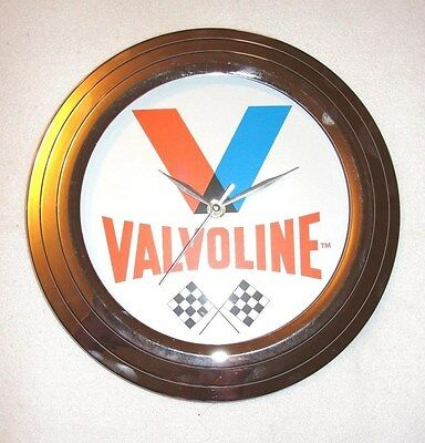 "Valvoline Motor Oil 12"" Retro Style Wall Clock - New"