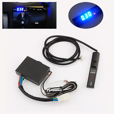 Universal APEXI Car Turbo Timer For NA & Black Pen Control Blue LED Display New