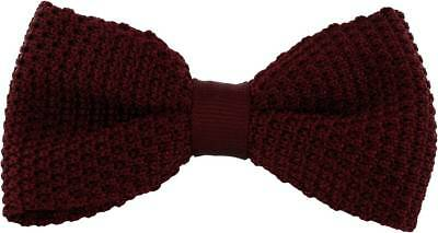 Michelsons of London Silk Knitted Bow Tie - Wine
