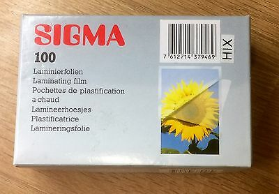 Sigma 100 X Laminating Film For Pictures Or ID
