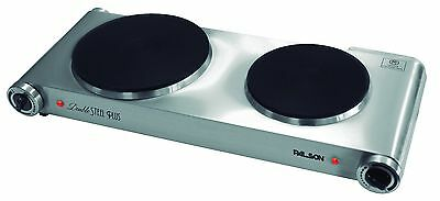 Palson Electric Hob Portable Hot Plate Double Cooker Camping Kitchen Table Top