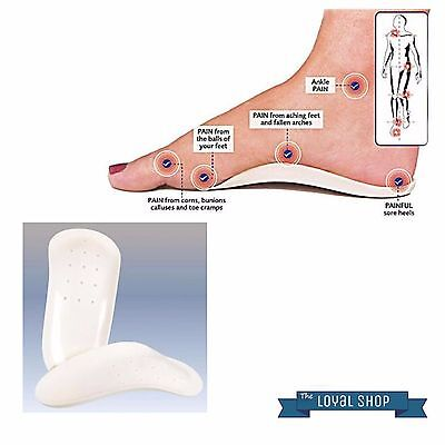 Orthotic Foot Support Insole For Men Flat Feet Heels Arches Pain Relief Care