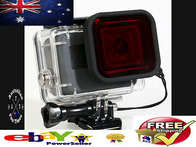 Underwater Undersea Diving Red Lens Filter For Gopro Hero 5 Waterproof Case Accs