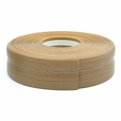 TEAKWOOD FLEXIBLE SKIRTING BOARD 32x23mm PVC floor wall joint cover soft coved