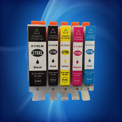 5PK Ink PGI-270XL + CLI-271XL BK/C/Y/M Combo For Canon Pixma MG5720 MG5722 M6820