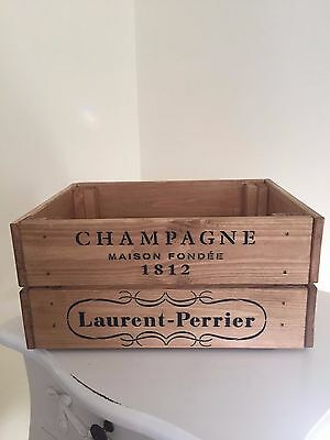 Vintage Style Design Wooden Laurent - Perrier  Champagne Wine Crate Box Storage