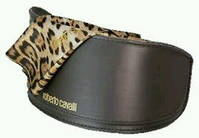 New Roberto Cavalli Sunglasses Big Case With Animal Cleaning Cloth