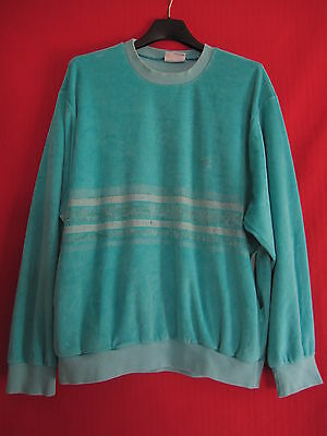 Sweat Adidas Femme Vintage 80'S Vert Made in France Jersey - 44 / 3