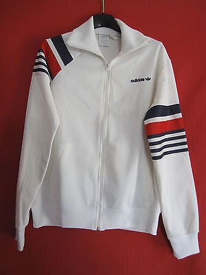 Veste Adidas 80'S Vintage Homme blanche Ventex made in France - 168 / S