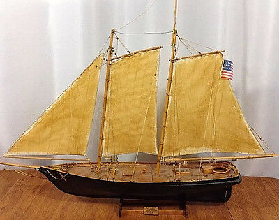 Wooden Ship Model America Sailing Yacht of 1851 America's Cup