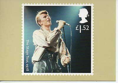 """David Bowie """"The Stage Tour 1978"""" on 2017 postcard"""