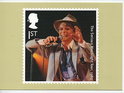 """David Bowie """"The Serious Moonlight Tour 1983"""" on 2017 postcard"""