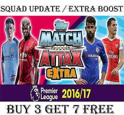 Match Attax EXTRA 2016/17 SQUAD UPDATE / EXTRA BOOST cards 2017