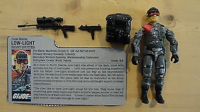 1986 GI Joe Low-Light Near Complete w/File Card Vintage Hasbro Action Figure -P