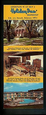 Holiday Inn Oversized postcard Delaware DE Newark DuPont Winterthur University