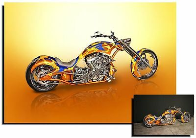 Large A3 Custom Digital Art Print Of Your Motorcycle - From Your Own Photos