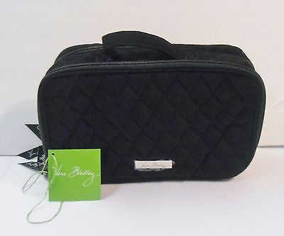 Vera Bradley Blush & Brush Makeup Cosmetic Bag CLASSIC BLACK New with Tag