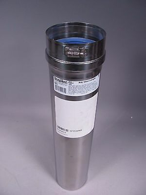 """Duravent FSVL 1804 4"""" x 18"""" Stainless Steel Single Wall Vent Pipe"""