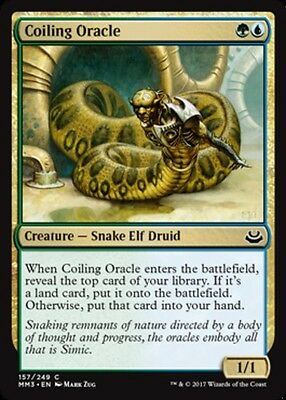 x4 Coiling Oracle MTG Modern Masters 2017 C M/NM, English