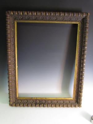 """ANTIQUE circa 1900 HAND CARVED PAINTING FRAME, NATURAL WOOD FINISH, fits 29 x23"""""""