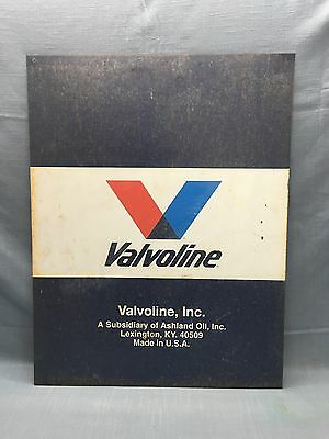 Vintage VALVOLINE Inc. Large Metal Sign Ashland Oil Inc 21 x 28 Gas Oil Station