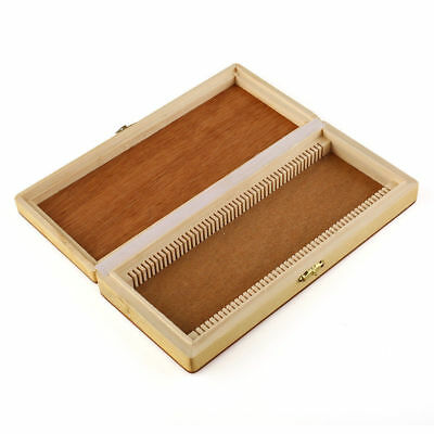 Microscope Slides Wooden Case Box Cabinet Holder Storage Kit for 50pcs Slides