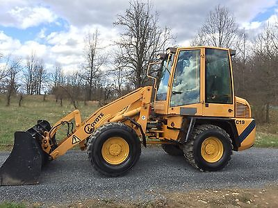 Coyote C19 Wheel Loader , Enclosed Cab, 70 Hp Great For Snow Low Cost Shipping