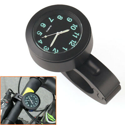"Universal 7/8"" - 1"" Bike Motorcycle Motorbike Handlebar Mount Clock Waterproof"
