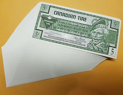 Canadian Tire Coupons 100 sequence 5 Cent Consecutive Stack of Notes MINT