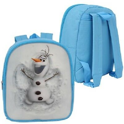 1 Disney Frozen 3-D Olaf Light Blue One Compartment Backpack # 19787