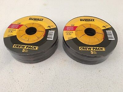 "DEWALT 10-PIECES 4-1/2"" x 1/4"" x 7/8"" METAL GRINDING WHEELS - DW4541-NEW"