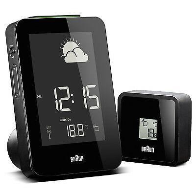 Braun Radio Controlled Weather Station Black BNC013BK-RC
