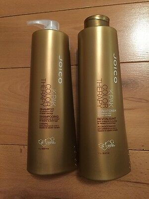 Joico K-Pak kpak Color Therapy Shampoo & Conditioner Litre 1000ml Duo & Pumps