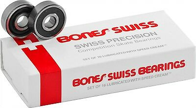 Bones SWISS 7mm bearings  - set of 16 - Skate 627 Roller Derby Skates
