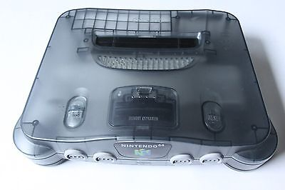 Nintendo 64 N64 Funtastic Smoke Grey Clear Black Video Game Console Only Rare