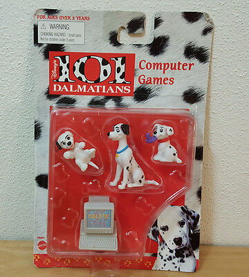 Disney 101 Dalmatians Computer Games Action Figures Mattel 66450 New Sealed