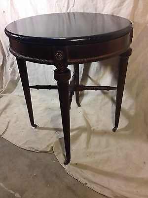Antique stand,brass Rollers Ebonized Top, Accent, Ships $49 Greyhound.MAKE OFFER
