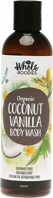 Coconut Vanilla Body Wash 250ml - The Whole Boodies
