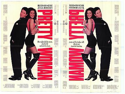 """MOVIE POSTER~Pretty Woman 1990 1 Sheet D/S 27x40"""" Double Sided Julia Roberts~"""