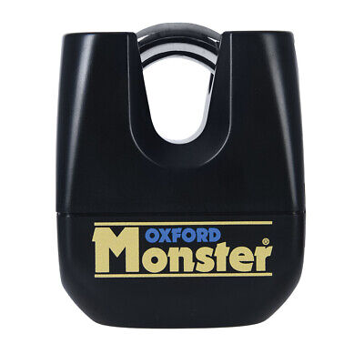 Oxford Monster Motorbike Motorcycle Padlock Only Double Locking Shackle 11mm