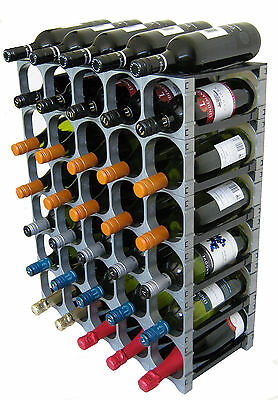 CellarStak Silver Plastic Wine Rack - 35/36 Bottles