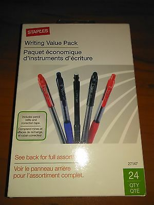 Writing Value Pack - 24 Count (Black, Blue & Red Ink Pens) & Mechanical Pencils