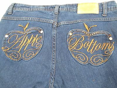 Apple Bottoms Jeans Women's Size 9/10 Dark Wash Low Rise Inseam 30 inches Skinny