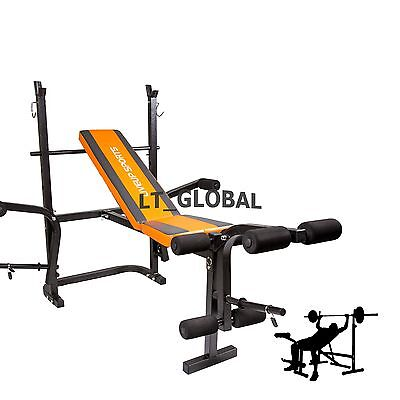 Multi-Station Weights Bench Home Gym Fitness Curl Press Incline Exercise