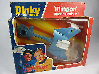 vintage Dinky Toys 357 Star T rek Klingon Battle Cruiser mint in original Box
