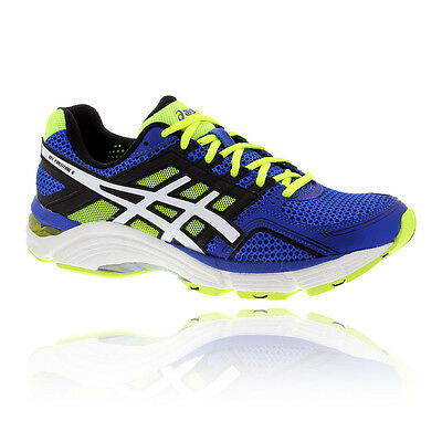 Asics Gel Fortitude 6 Mens Blue Cushioned Running Sports Shoes Trainers 2E