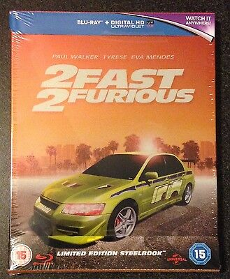 2 FAST 2 FURIOUS Blu-Ray SteelBook Zavvi UK Exclusive Region Free. New OOP Rare!