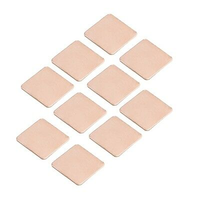 10Pcs 15x15x0.5mm Heatsink Heat Sink Copper Shim Thermal Pads for Laptop GPU CPU