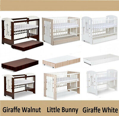Safari Baby Cot + Container Optional + Mattress Selection Of Cots & Mattresses