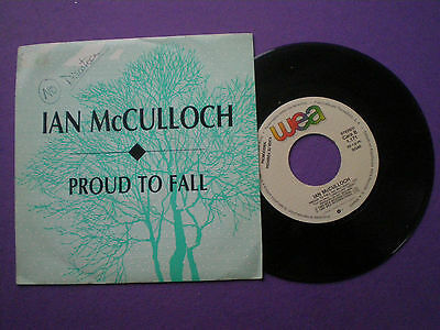 IAN McCULLOCH Proud To Fall SPAIN 1-SIDE PROM0 45 1989 Echo And The Bunnymen